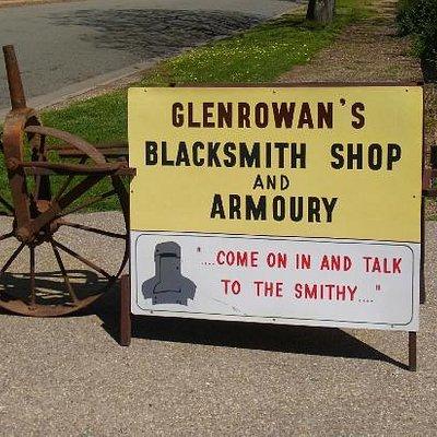 Black Smith Shop Sign
