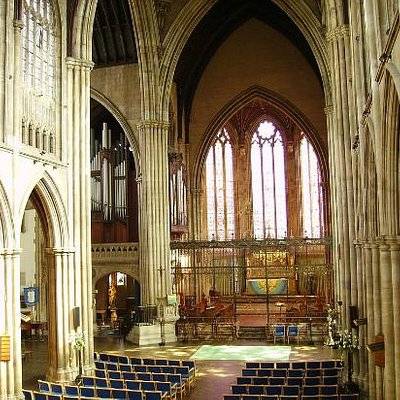 The magnificent Neo-Gothic interior of All Saints' Church