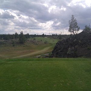 One of the more challenging holes at Juniper. From the white tees you really need 200 or better
