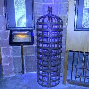 Cage contraption at the Museum