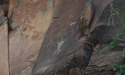 Olowalu Petroglyphs High on the Rock Wall