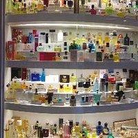A coleção de perfumes do Museu.
