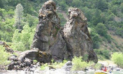 two rocks, main eel wilderness