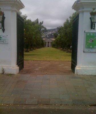 L'entrée principale du Jardin de l'Etat