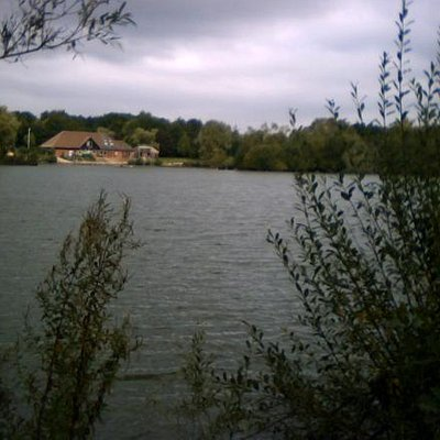 View across the lake toward the centre