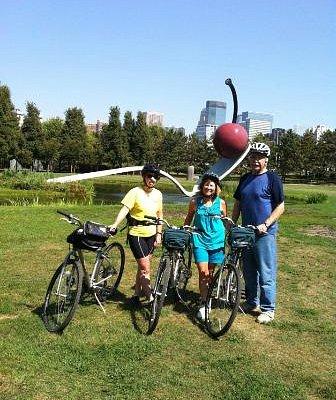 Stephanie, me, and my husband at Walker Sculpture Garden