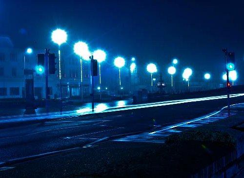 Princess Royal Square at night, long exposure