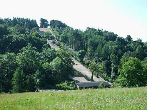 View of dry ski slope