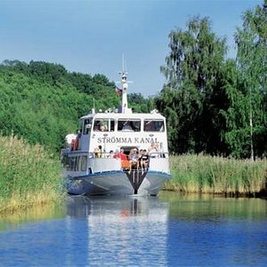 The canal tour to Sandhamn