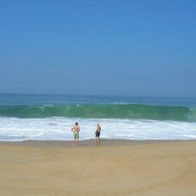 This beach often has very big waves