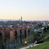 Madrid Skyline from Cerro del Tio Pio Park