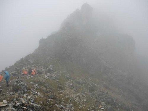 Vista del camino al nevado Huaytapallana