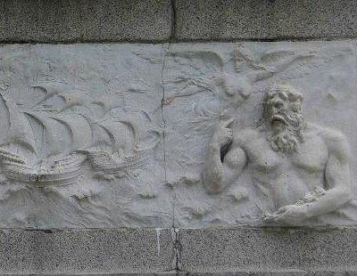 Jardim de Vasco da Gama - Bust mural