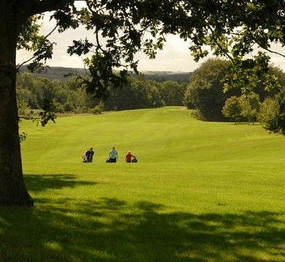 Billede af golfbanerne.