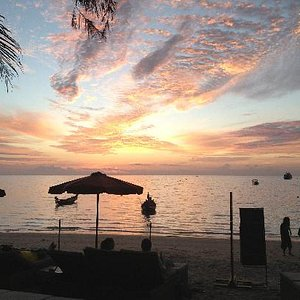Another beautiful sunset at maya beach club... Best venue on Koh Tao