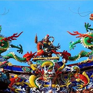 Ornate Roof Decoration at the Shrine of the Serene Light