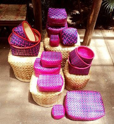 Palm leaf baskets (Called Chettinad Kottans)