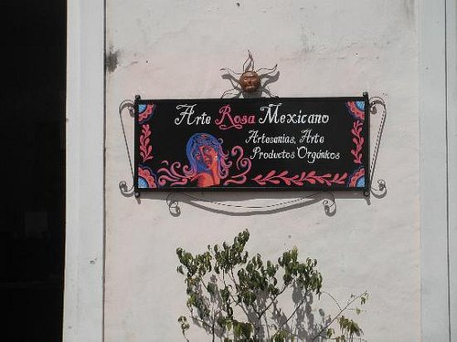 The store sign