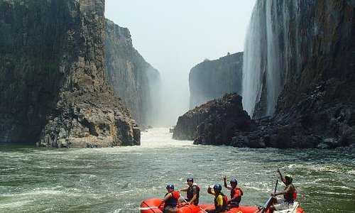 Enjoy the view of the Victoria Falls from the bottom with Shockwave Adventures only