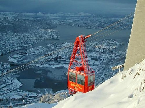 The cabel care taht brings you to Mt. ulriken 643m