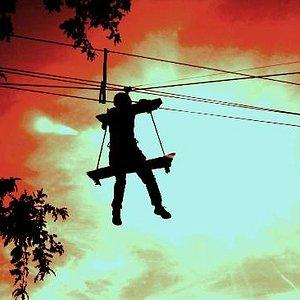 Drama on the trapeze.