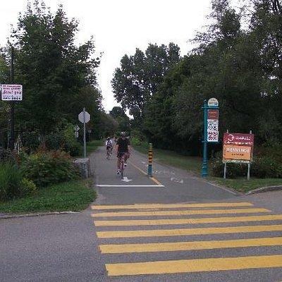 Wendake, piste cyclable