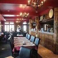 L'intérieur du restaurant Sagamité
