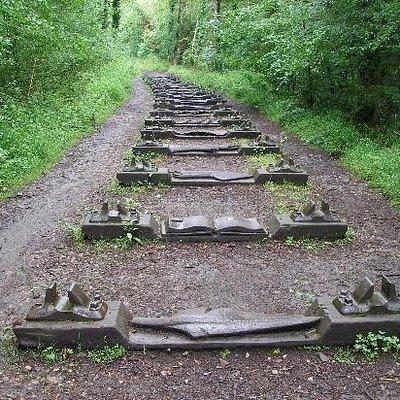 railway track sculpture