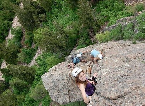 summer climb on the via ferrata