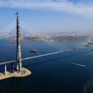 мост на о. Русский окончание строительства