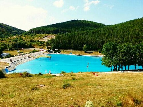 Huge swimming pool of Germia.
