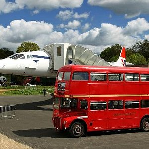 Our 1959 Routemaster alongside another British icon - Concorde