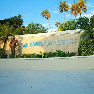 The front gate of IMG Academy