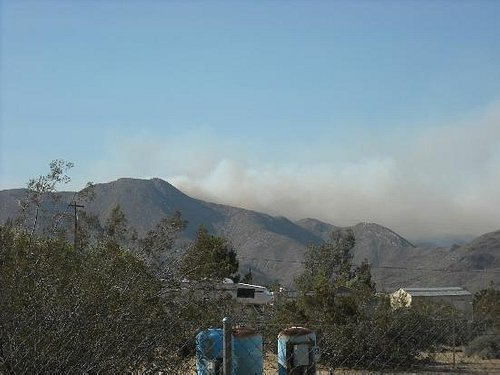 Granite Mountain, east side during fire of 2012