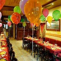 Une soirée anniversaire deco salle avec ballons